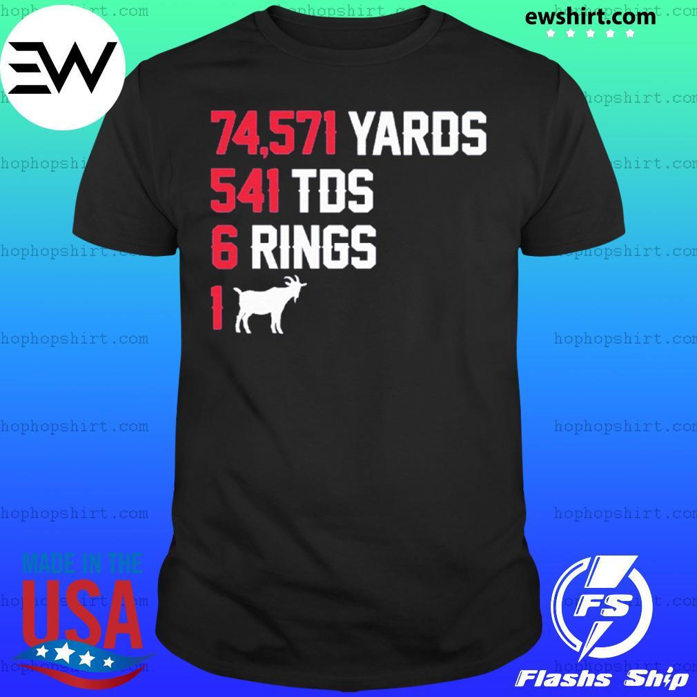 74,571 Yards 541 TDS 6 Rings 1 GOAT shirt