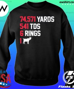74,571 Yards 541 TDS 6 Rings 1 GOAT s Sweater