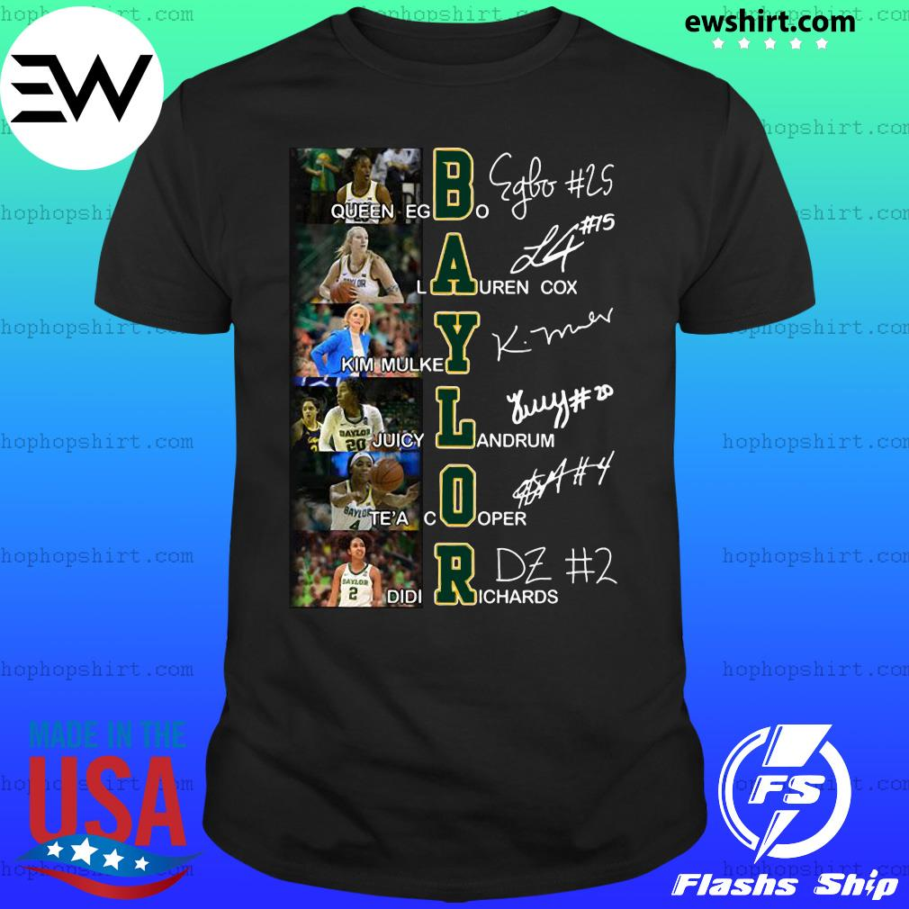 Baylor queen egbo lauren cox signatures shirt