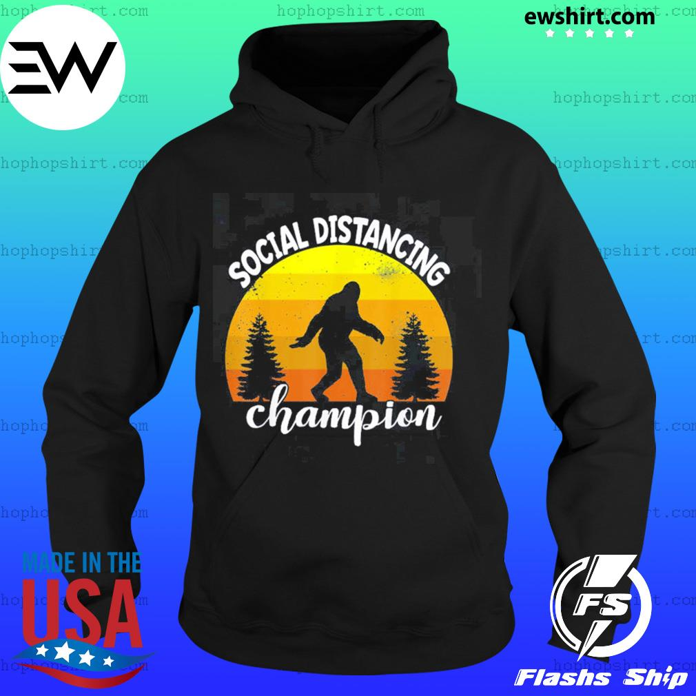 Bigfoot sasquatch conspiracy social distance champion vintage sunset s Hoodie