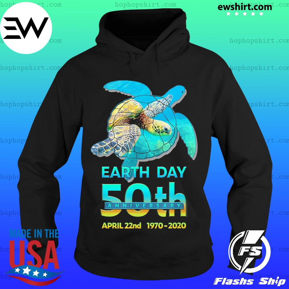 Earth day 50th anniversary sea turtle silhouette s Hoodie