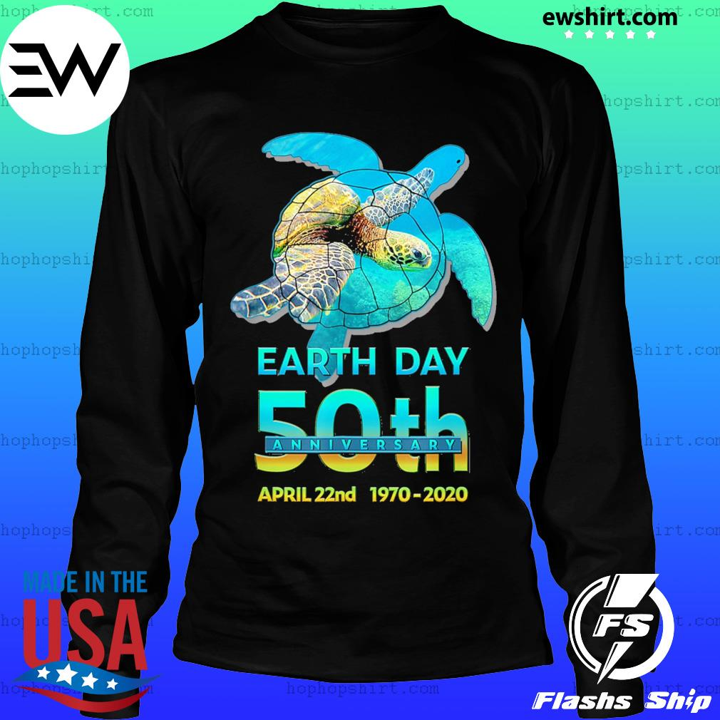 Earth day 50th anniversary sea turtle silhouette s LongSleeve