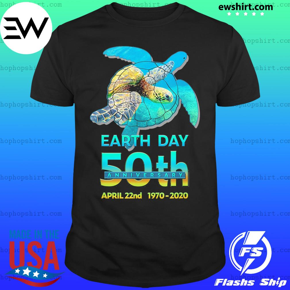 Earth day 50th anniversary sea turtle silhouette shirt