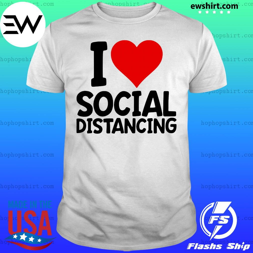 I Love Social Distancing Retro Heart shirt