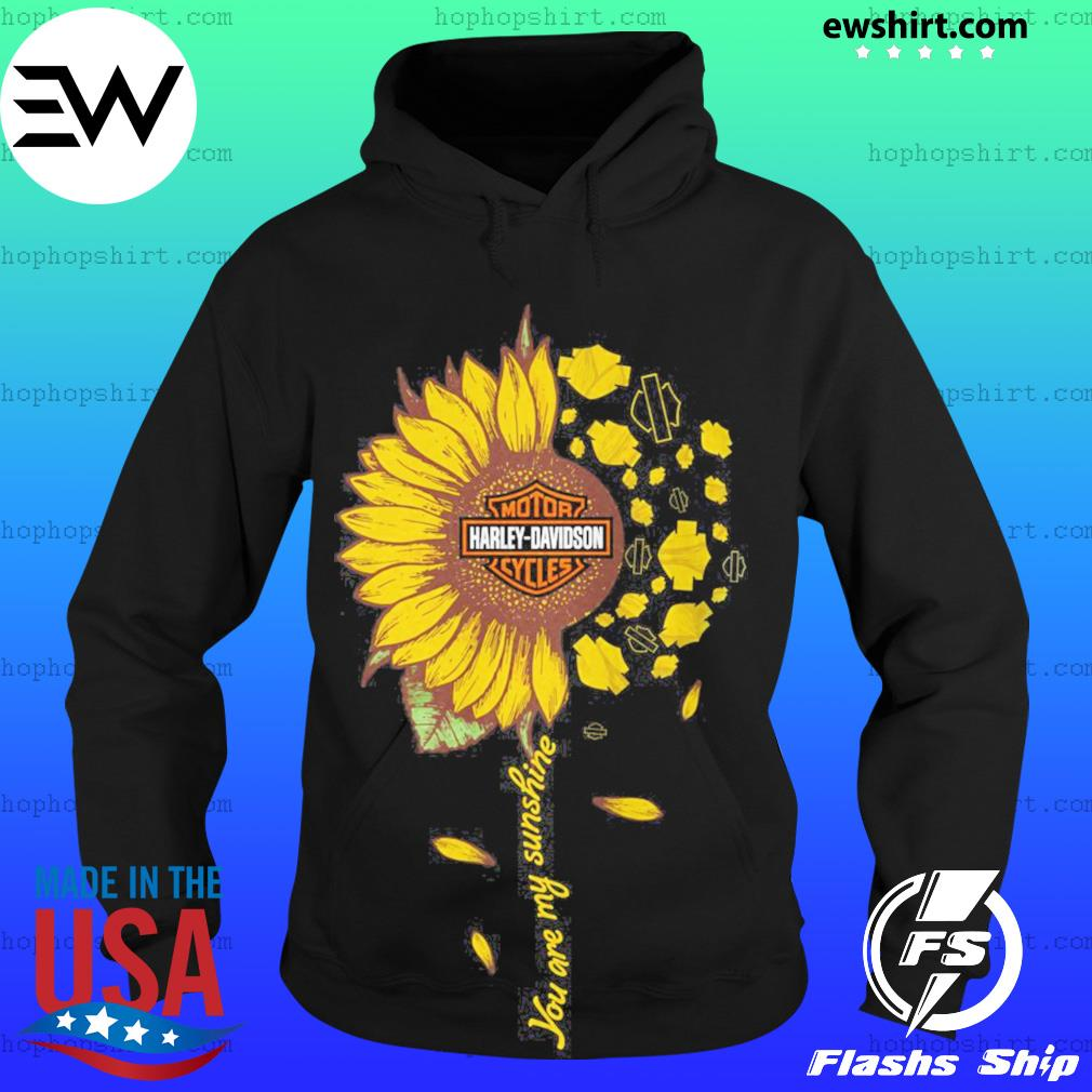 Moto harley davidson cycles sunflower you are my sunshine s Hoodie