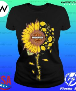 Moto harley davidson cycles sunflower you are my sunshine s Ladies Tee
