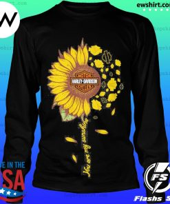 Moto harley davidson cycles sunflower you are my sunshine s LongSleeve