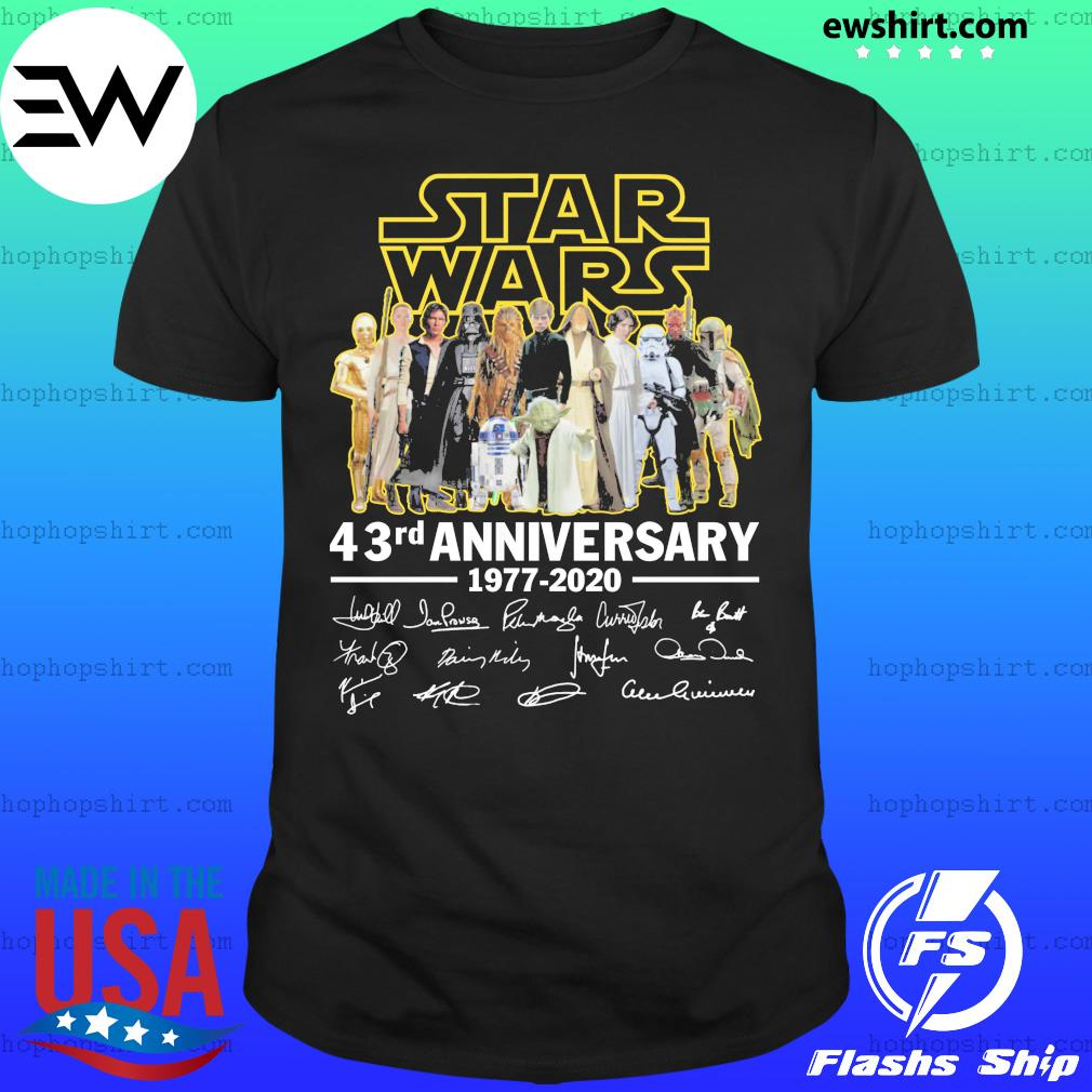 Star Wars 43rd anniversary 1977 2020 signature shirt