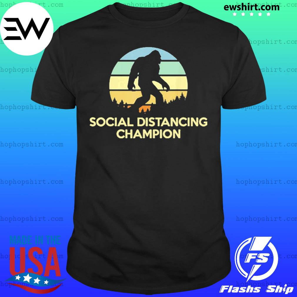 Vintage Social Distancing Champion Bigfoot Shirt