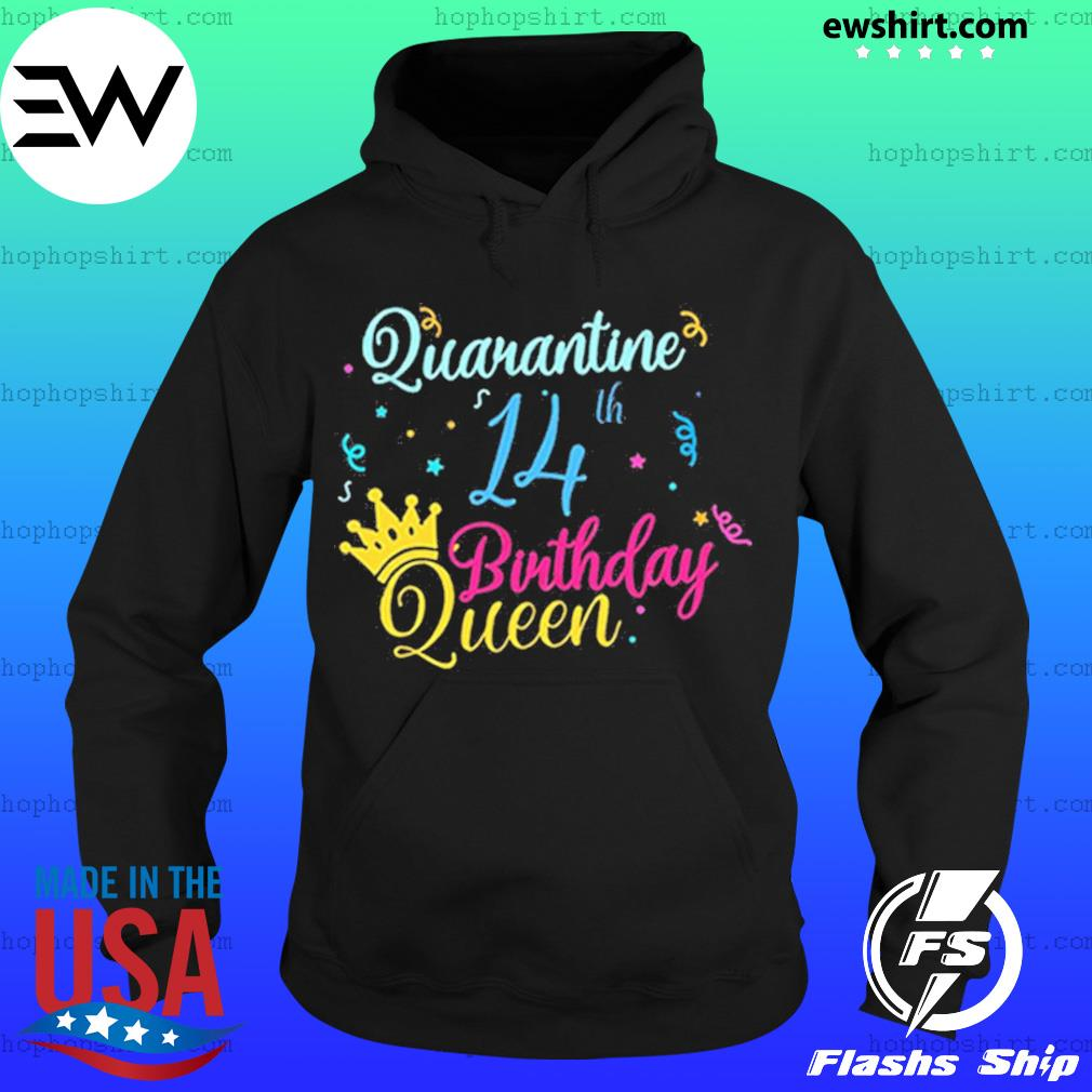 14th birthday quarantine queen crown year social distancing birthday s Hoodie