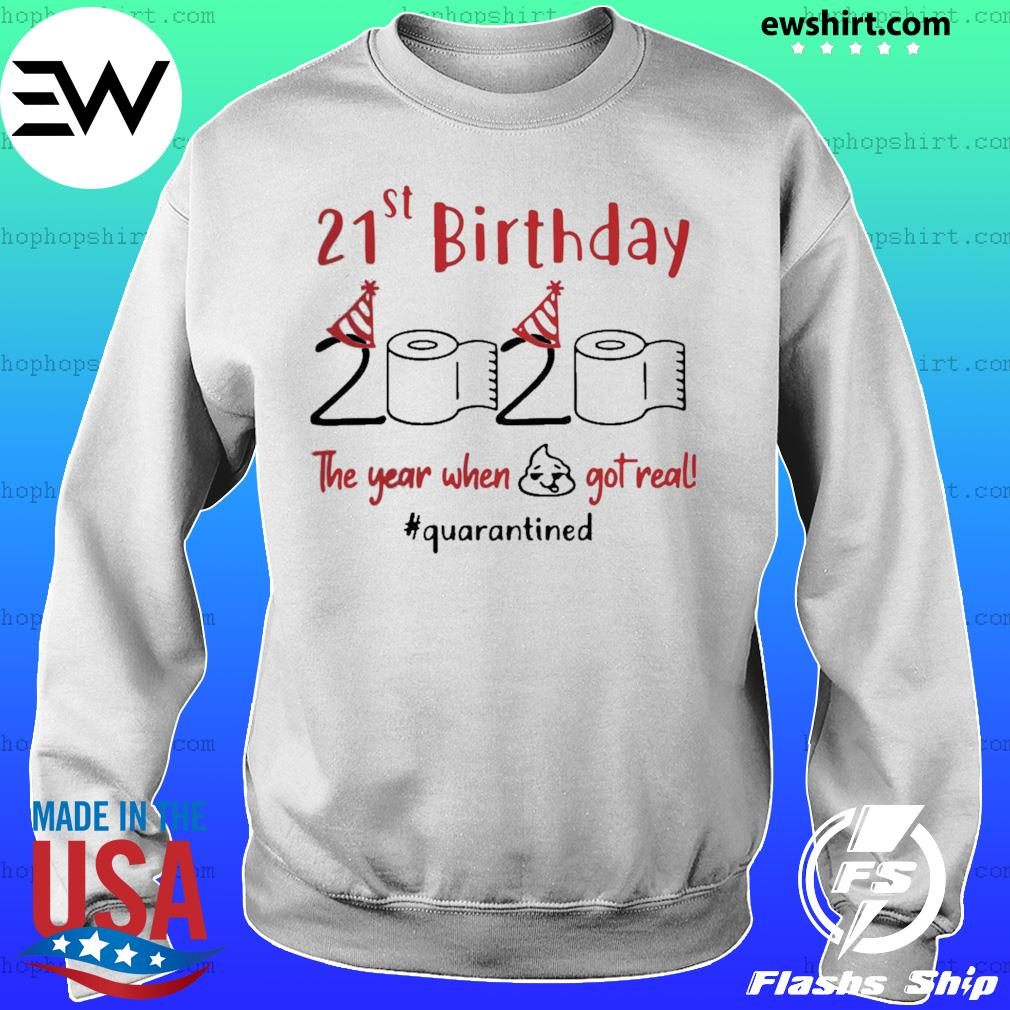 21st Birthday 2020 The Year When Shit Got Real Quarantined s Sweater