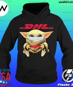 Baby yoda face mask hug DHL I can't stay at home s Hoodie
