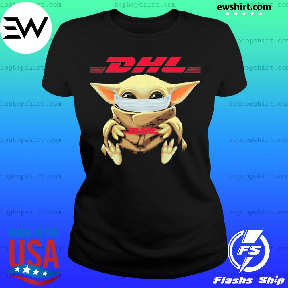 Baby yoda face mask hug DHL I can't stay at home s Ladies Tee