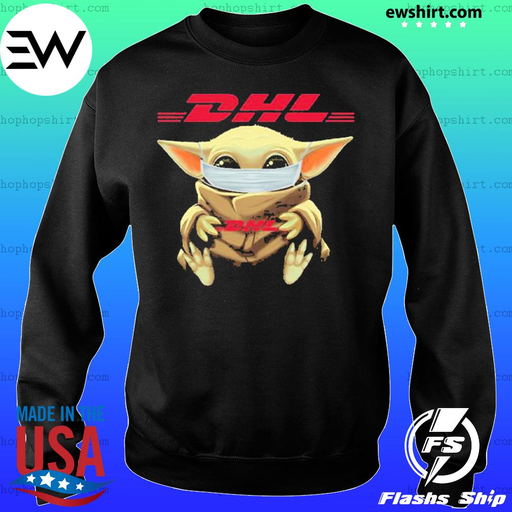 Baby yoda face mask hug DHL I can't stay at home s Sweater