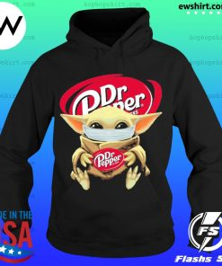 Baby yoda face mask hug Dr Pepper I can't stay at home s Hoodie