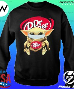 Baby yoda face mask hug Dr Pepper I can't stay at home s Sweater