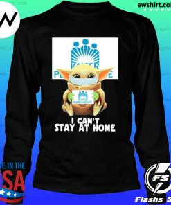 Baby yoda face mask hug Kaiser Permanente I can't stay at home s LongSleeve