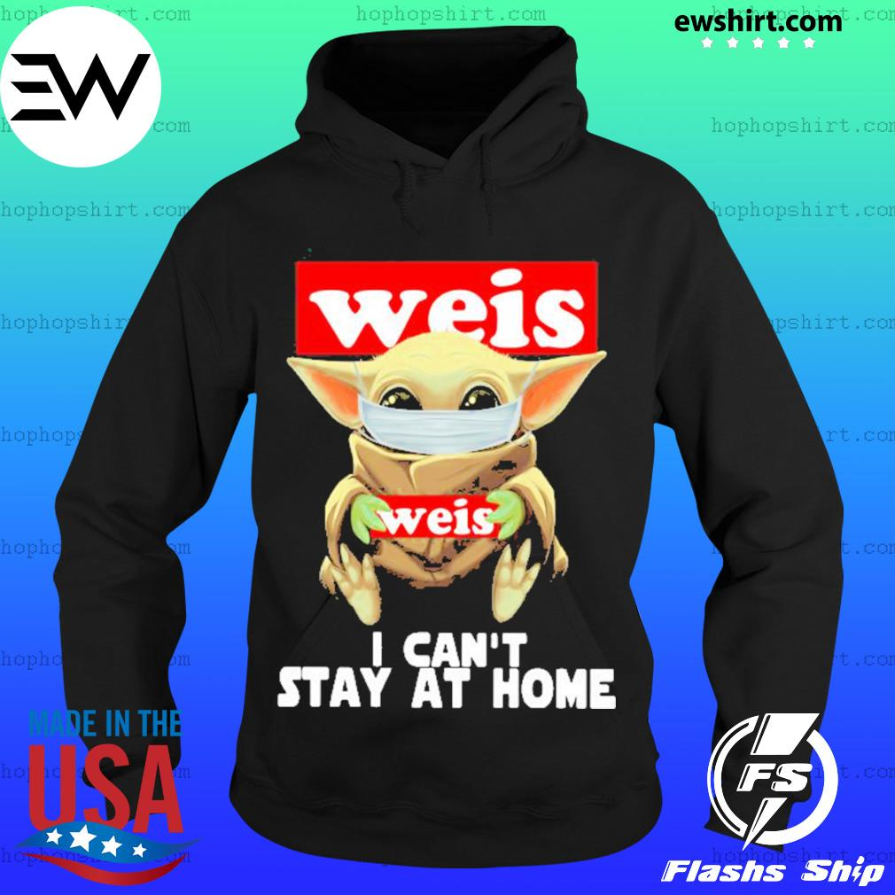 Baby Yoda face mask Weis can't stay at home s Hoodie