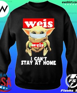 Baby Yoda face mask Weis can't stay at home s Sweater