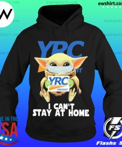 Baby Yoda face mask YRC Freight can't stay at home s Hoodie
