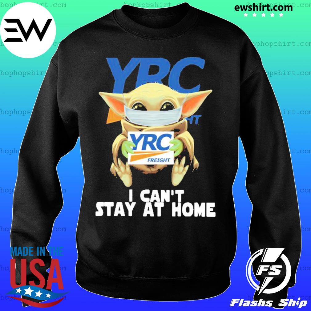 Baby Yoda face mask YRC Freight can't stay at home s Sweater