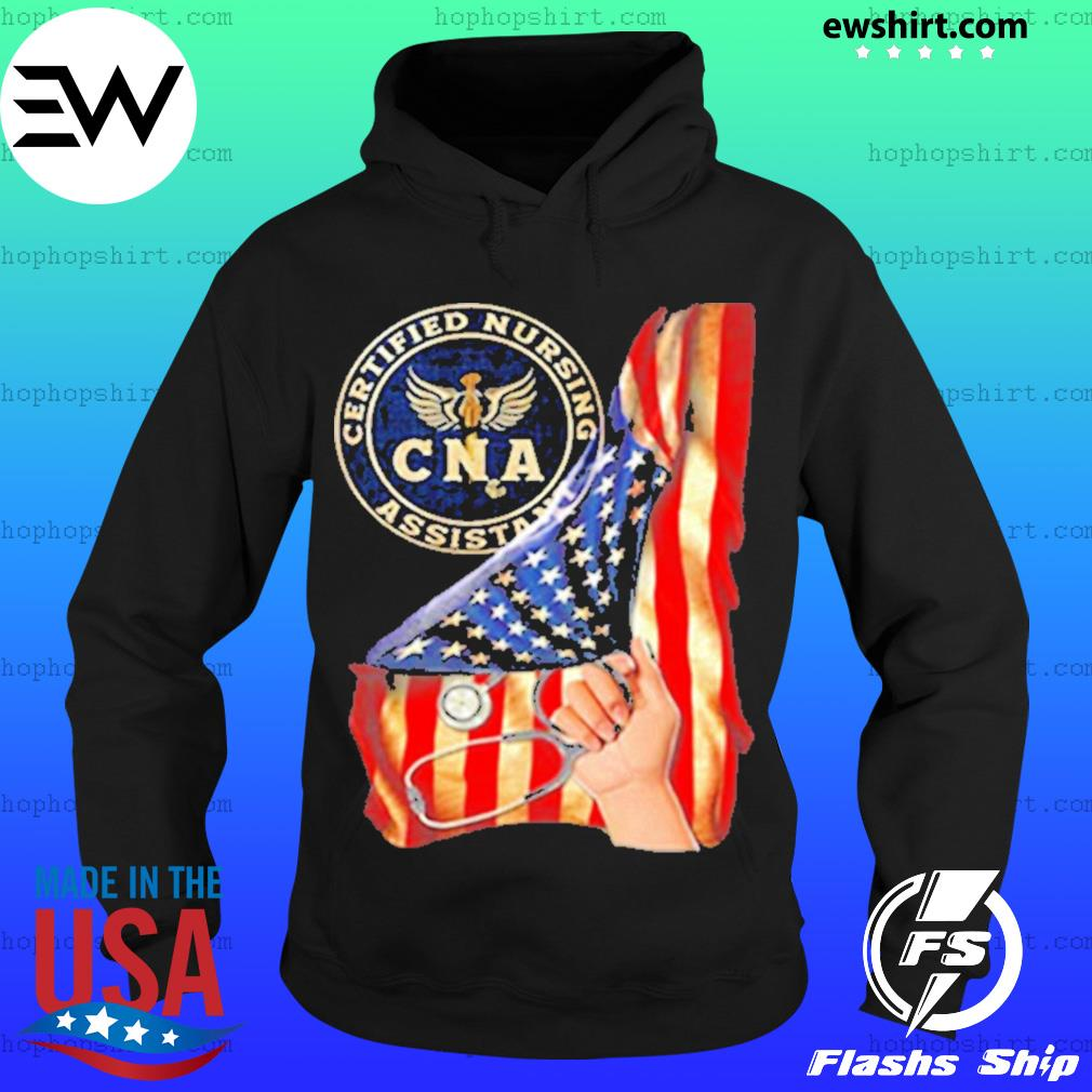 Nurse strong american flag CNA certified nursing assistant s Hoodie