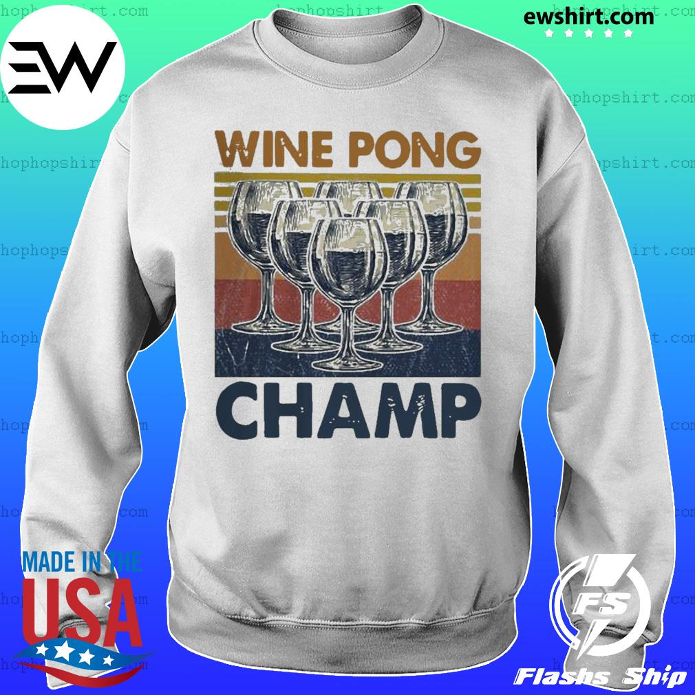 Wine pong champ vintage s Sweater