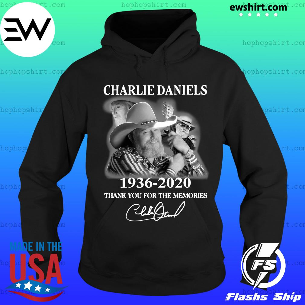 Charles Daniels 1936 2020 Thank You For The Memories Signature Shirt Hoodie