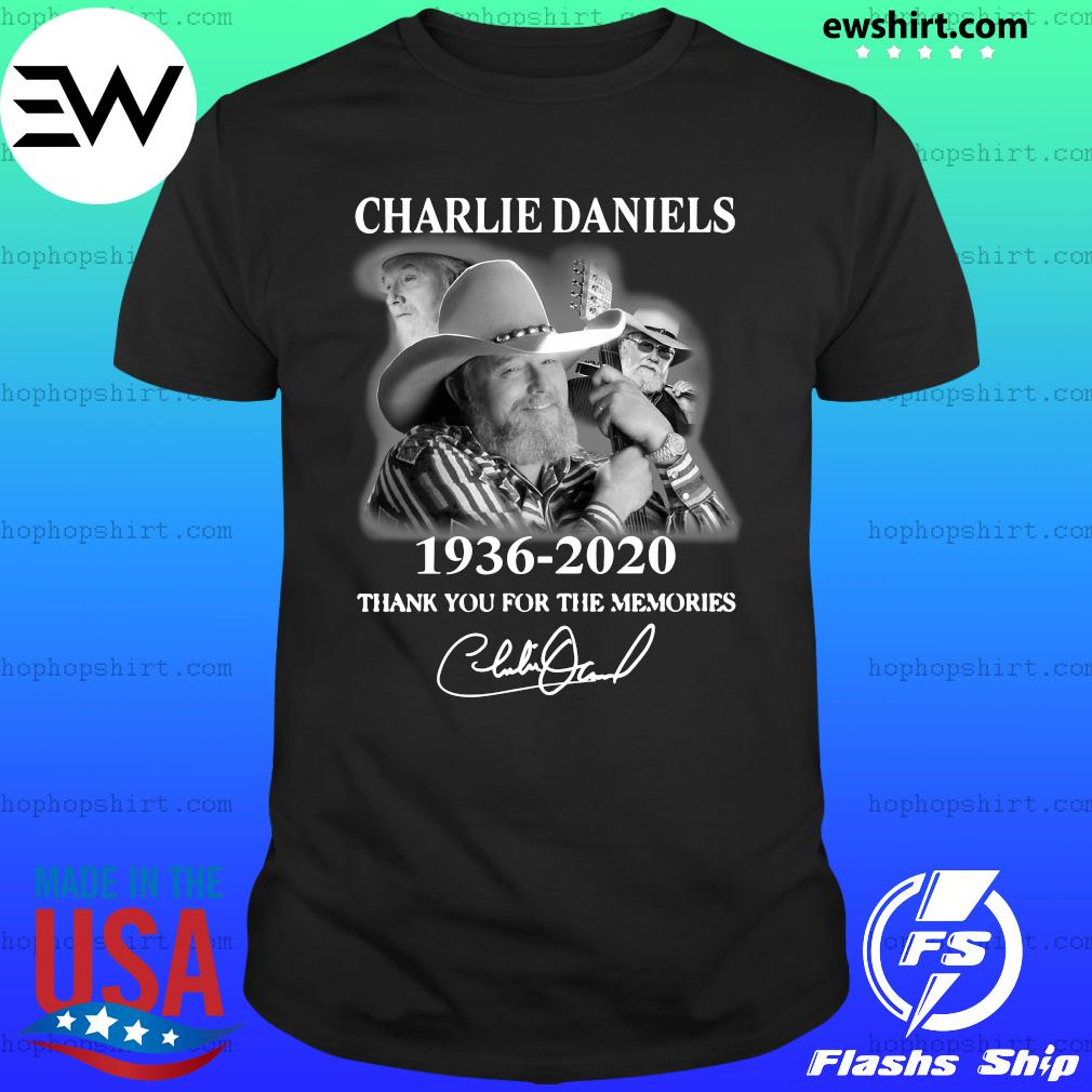 Charles Daniels 1936 2020 Thank You For The Memories Signature Shirt
