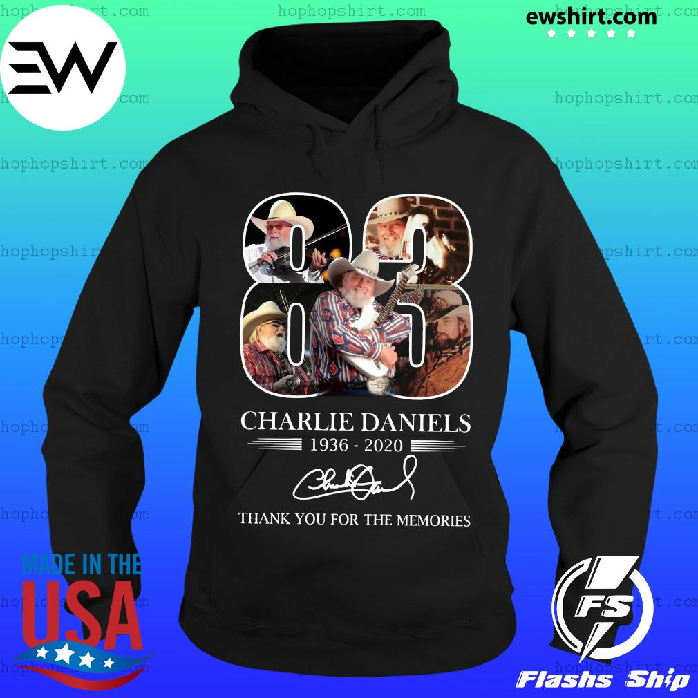 Charlie Daniels 83 1936 2020 Thank You For The Memories Signatures Shirt Hoodie