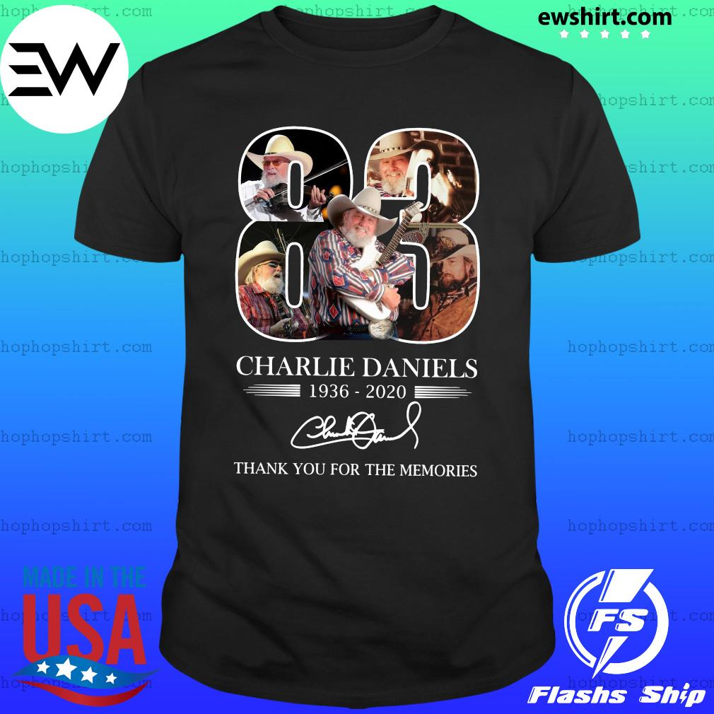 Charlie Daniels 83 1936 2020 Thank You For The Memories Signatures Shirt