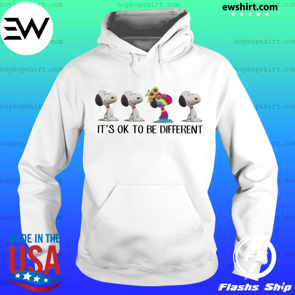 Hippie snoopy it's ok to be different sunflowers s Hoodie