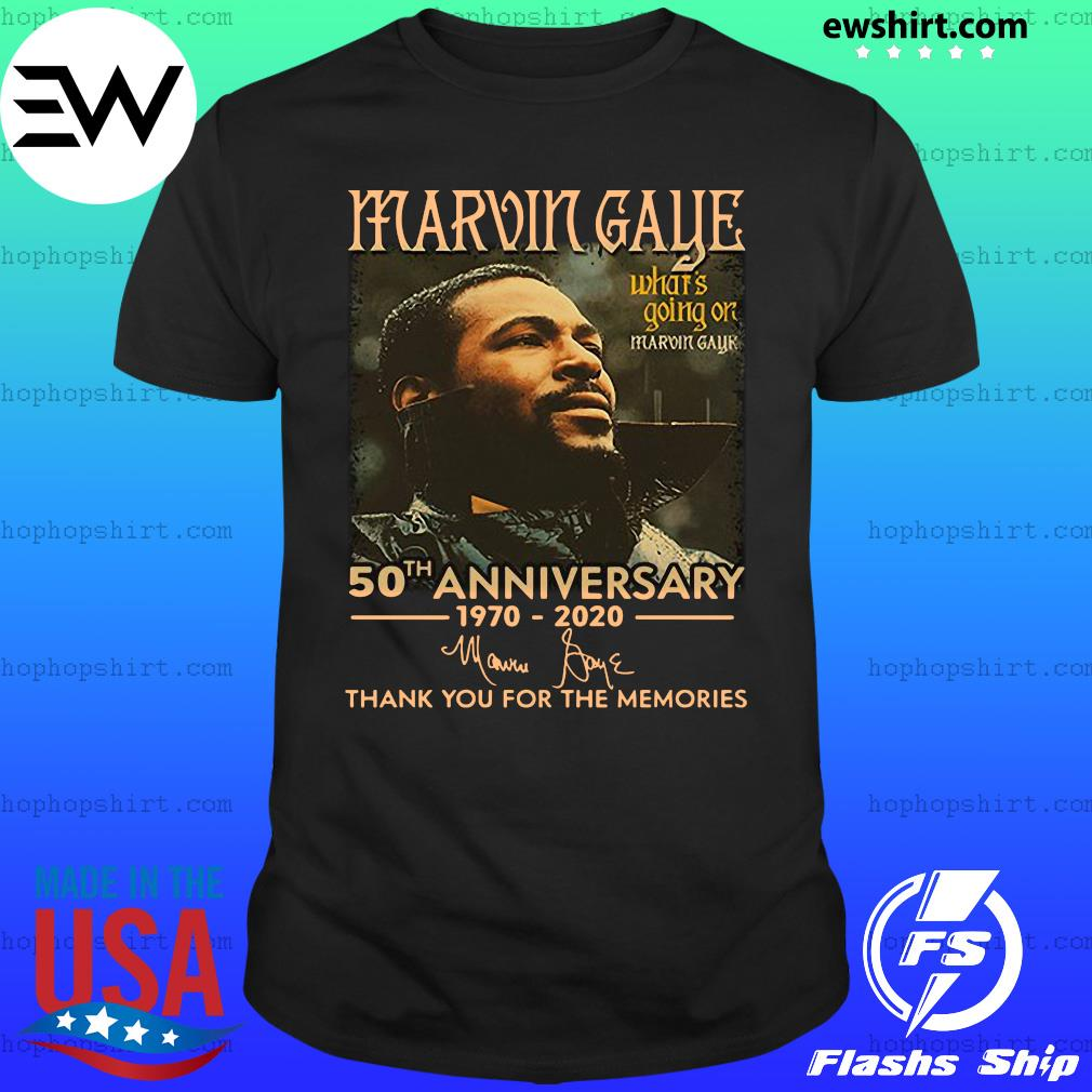 Marvin Gaye 50th anniversary 1970 2020 thank you for the memories shirt