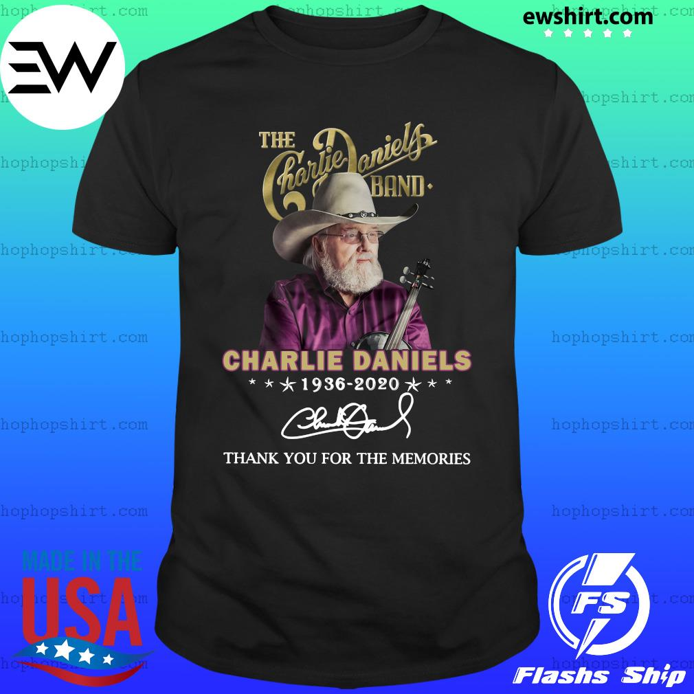 The Charles Daniels Band 1936 2020 Thank You For The Memories Signature Shirt