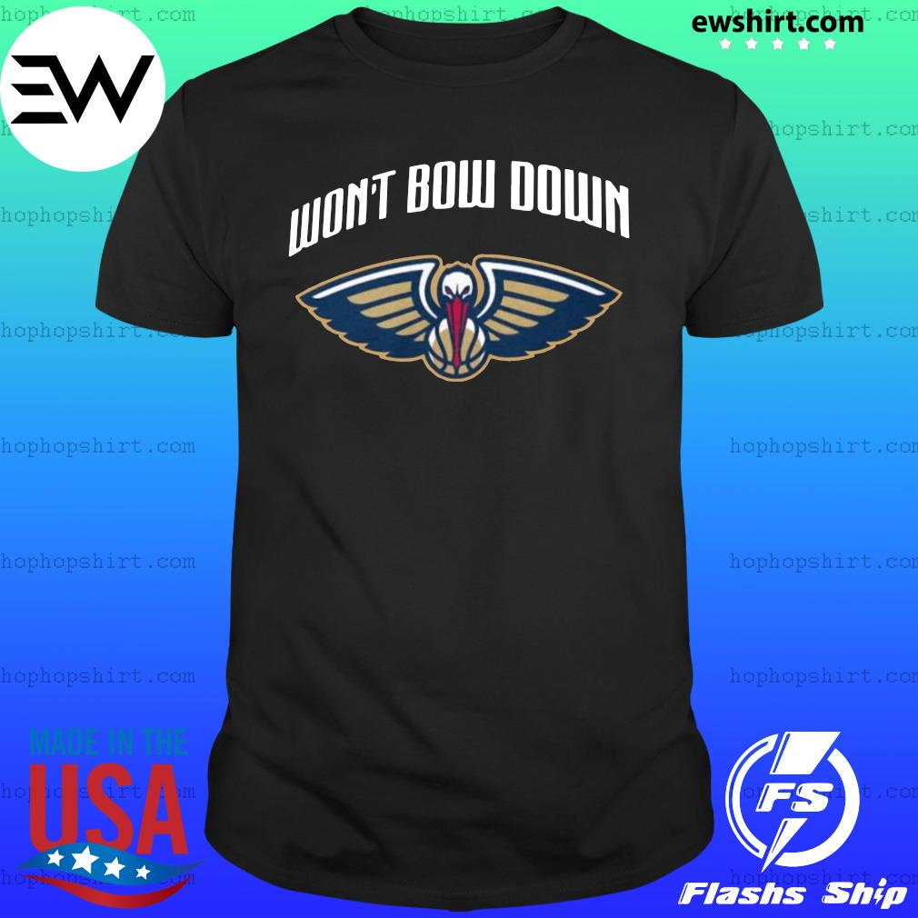 Won't bow down official new orleans pelicans shirt