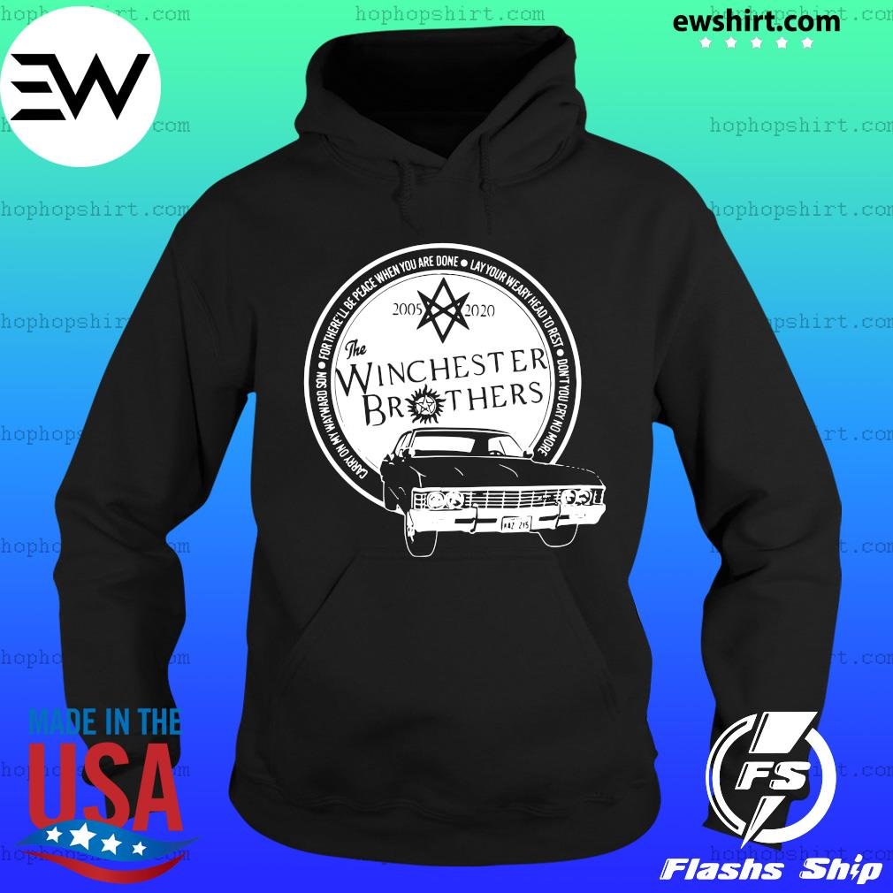 The Winchester Brothers Supernatural 2005 2020 Carry On My Wayward Son Shirt Hoodie