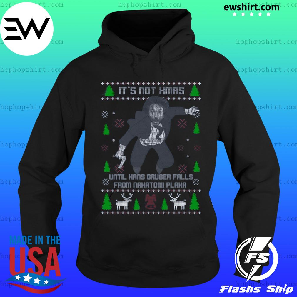 Official It's Not Xmas Until Hans Gruber Fall From Nakatomi Plaza Christmas Shirt Hoodie