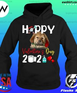 Tibetan Mastiff Happy Valentine's Day With Toilet Paper 2021 Shirt Hoodie