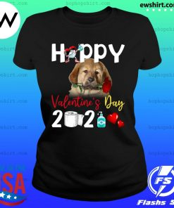 Tibetan Mastiff Happy Valentine's Day With Toilet Paper 2021 Shirt Ladies Tee