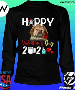 Tibetan Mastiff Happy Valentine's Day With Toilet Paper 2021 Shirt LongSleeve