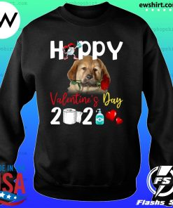 Tibetan Mastiff Happy Valentine's Day With Toilet Paper 2021 Shirt Sweater