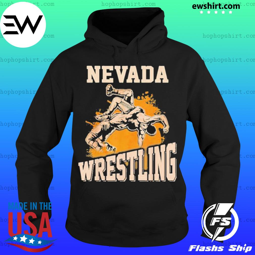 Nevada Wrestling Dad Mom For Wrestler Son Hoodie