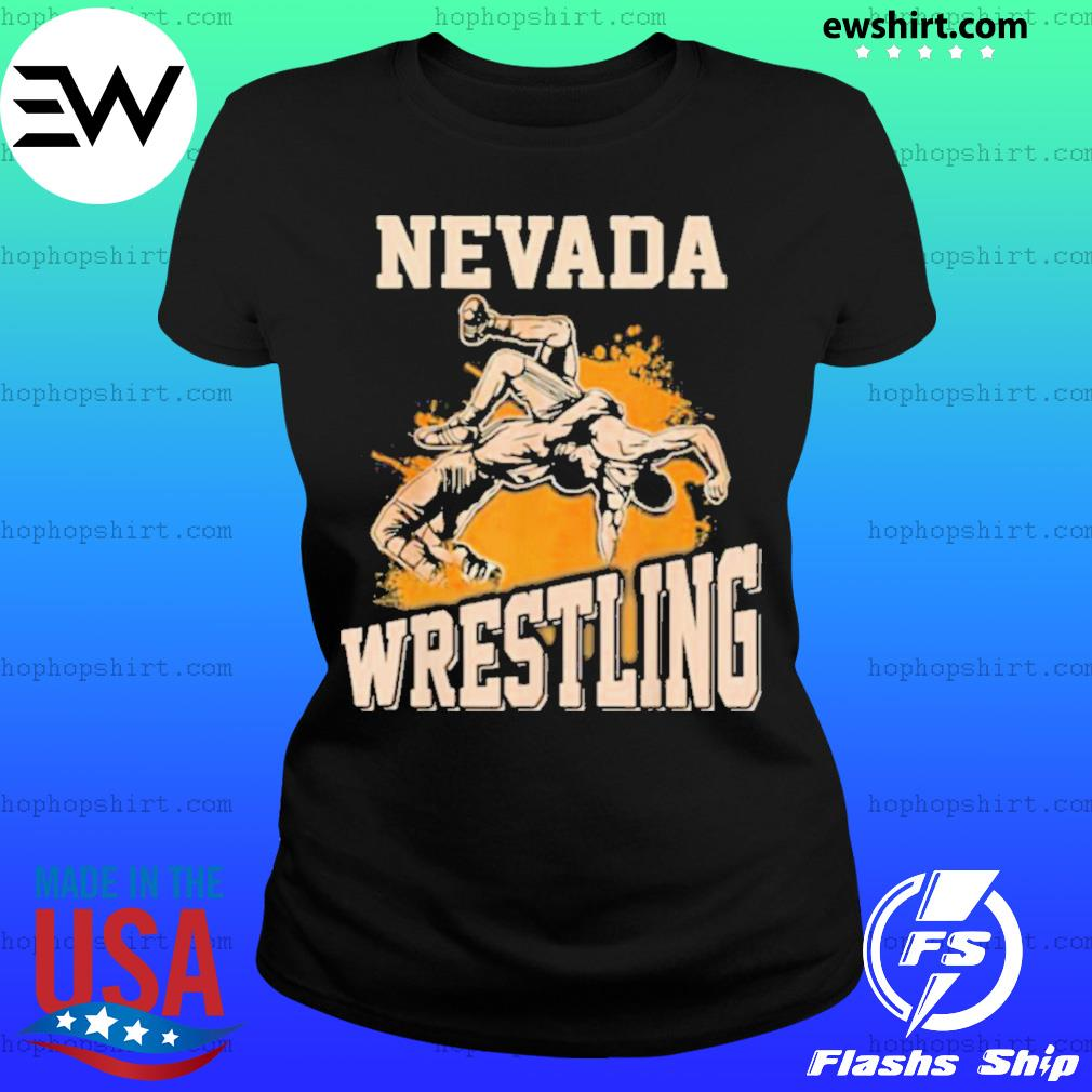 Nevada Wrestling Dad Mom For Wrestler Son Ladies Tee