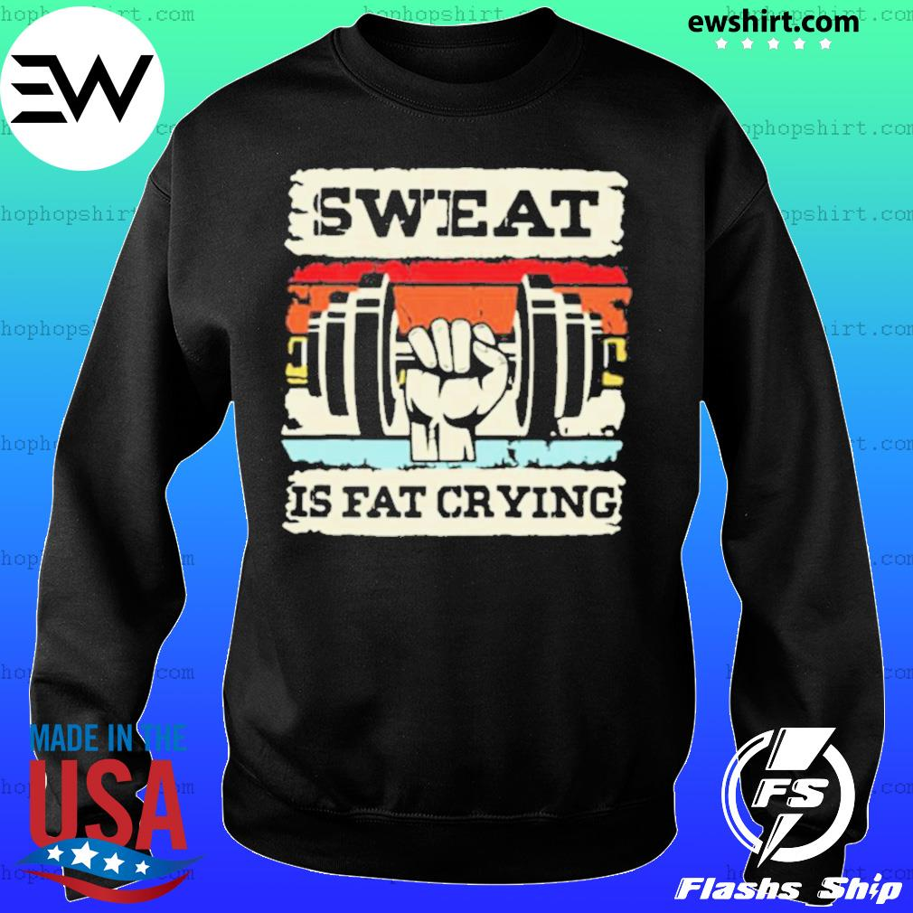 Retro Sweat Is Fat Crying Weightifling Vintage Sweater