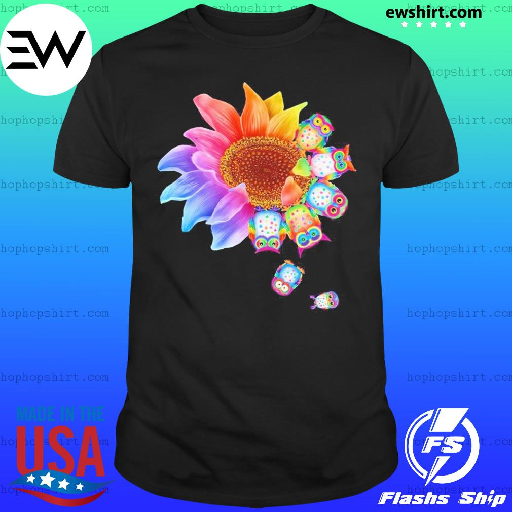 Sunflower Owls Dandelion Shirt