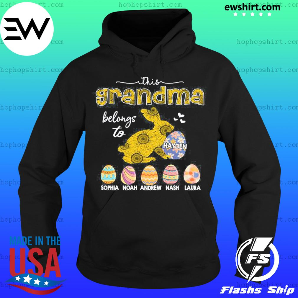This Grandma belongs to Kids and Grandkids, Bunny Eater Dilypod Shirt Hoodie